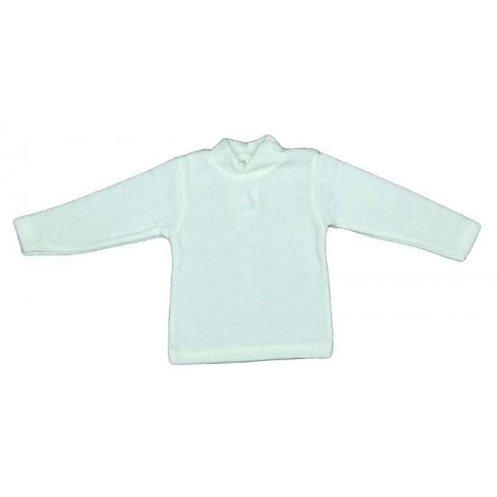Вязаный молочный гольф 80 92 размера на ребенка
