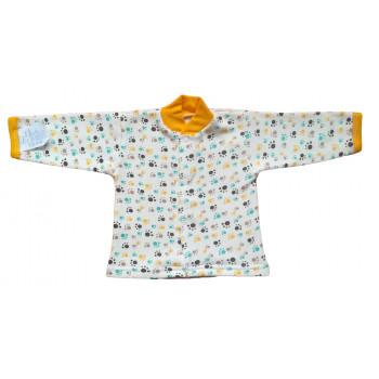 Кофточка Лапки Молочно-голубая Байка 56 размера для новорожденных мальчиков