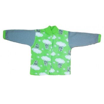 """Байковая детская зеленая кофта 80 и 86 размеры """"За тучкой"""""""