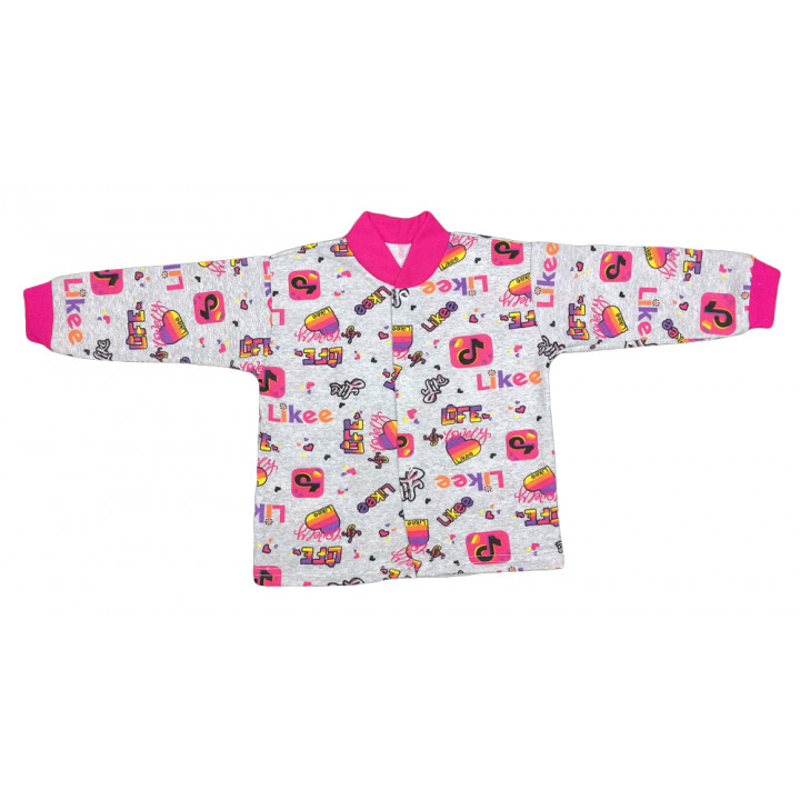 Теплая (ткань начес) кофта для девочек