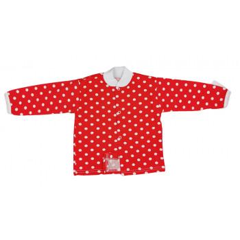 Летняя красная кофта 80 размера для девочек Горошинка
