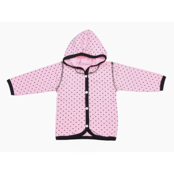 Кофта Розовая с капюшоном Стрейч-кулир на девочку от 3-х месяцев 80