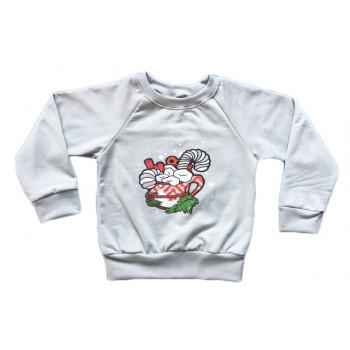 Детский новогодний свитшот 98 110 122 размеры Сладости
