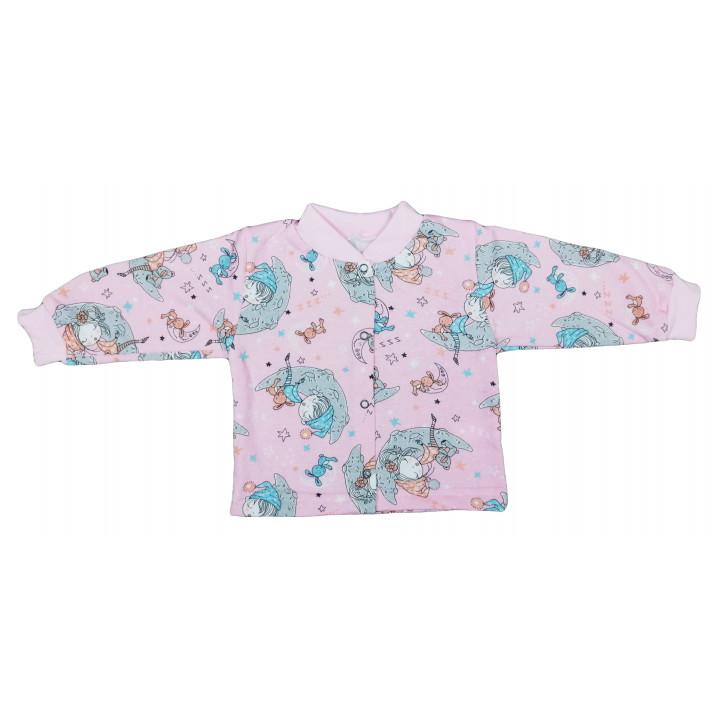 Теплая розовая кофта на девочку от 0 до 2 лет