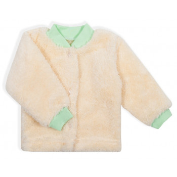 Теплая кофта на кнопках для малышей Молочная Велсофт 56 62 68 размеры