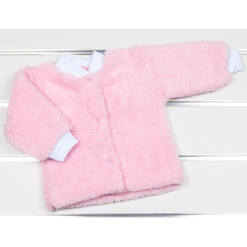 Теплая розовая кофта на кнопках Велсофт 56 размер на девочку до года