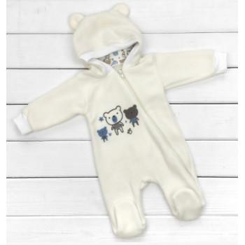 Флисовый комбинезон для новорожденного 62 68 размеры Мишка