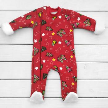Зимний человечек Новогодний 62 68 74 80 р. трехнитка для детей до года