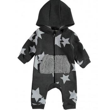 Детский комбинезон (трехнитка) ТМ Moes Звездочка Серый 68 74 80 86 размеры