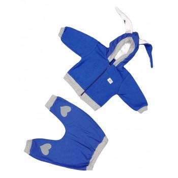 Теплый синий комплект одежды Руками не трогать мальчикам