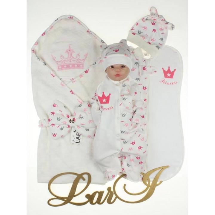 Летний комплект Моя Принцесса на выписку из роддома новорожденной девочке