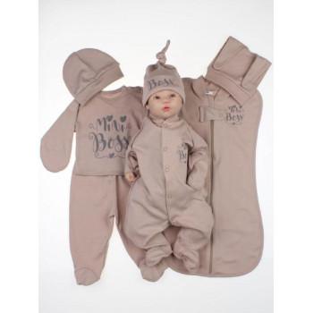 Летний набор одежды 7 предметов Mini Boss для новорожденной девочке