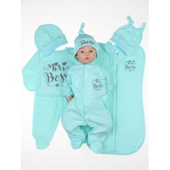 Набор одежды 7 предметов Mini Boss Мятный для новорожденной девочке