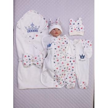 Летний комплект Мой Принц на выписку из роддома новорожденному мальчику