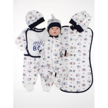 Летний набор одежды 7 предметов для новорожденного мальчика