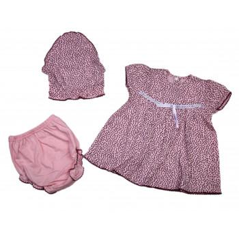 Косынка + платье + трусики на памперс для девочек