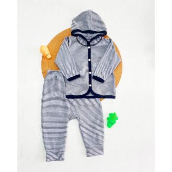 Комплект одежды Полосатый Кулир для мальчиков 68 74 80 86