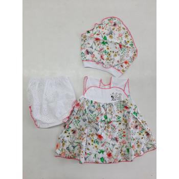 Платье + косынка + трусы на памперс Штапель 74 80 размеры