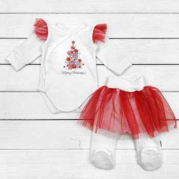 Новогодний костюм Merry Chrismas для новорожденных девочек