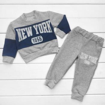 Костюм New York Двунитка Серый 98 110 122 для мальчиков