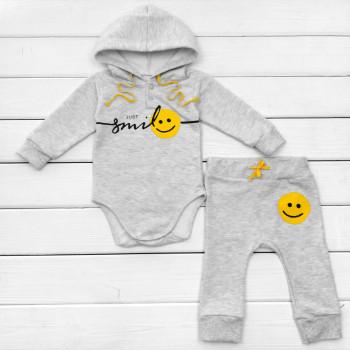 Комплект (боди + штаны) Smile Серый Футер 74 80 Серый для малышей