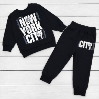 Костюм New York Футер Черный 98 110 122 для мальчиков