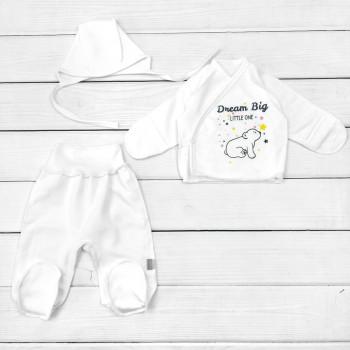 Комплект одежды в роддом Умка Футер Молочный для новорожденных