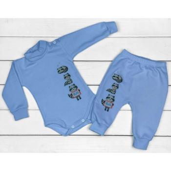 Теплый из футера комплект одежды для мальчиков 68 74 80 86 размеры Енотик