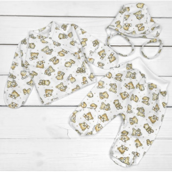 Набор одежды Футер Размеры 50 56 для новорожденных в роддом