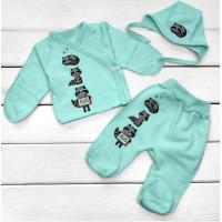 Теплый набор ментоловый для новорожденного ребенка в роддом