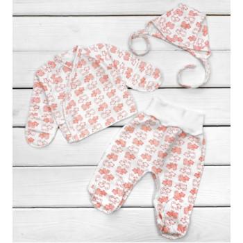 Теплый комплект Красные Котики для новорожденных в роддом