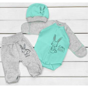 Теплый из ткани футер комплект одежды для малышей Bunny