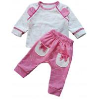 Теплый (футер пенье) комплект одежды для девочек Милый Слоник