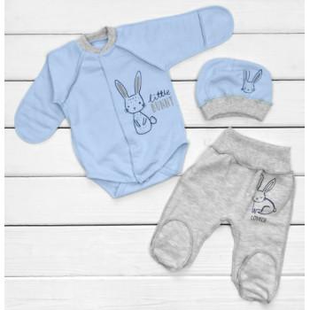 Теплый из футера комплект одежды 62 размеры для мальчиков Little Bunny