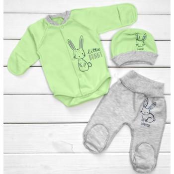 Теплый из футера комплект одежды 56 62 68 размеры для малышей Little Bunny