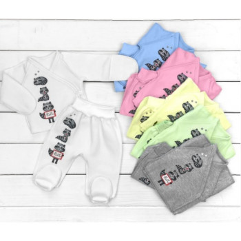 Теплые цветные комплекты одежды из футера в роддом