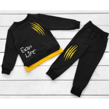 Детский черный костюм Life Футер 98 размеры