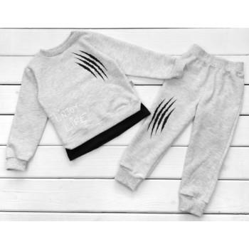 Детский серый костюм Футер 98 110 122 размеры