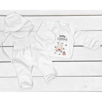 Набор одежды Футер Размеры 50 56 в роддом для новорожденных