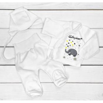 Комплект одежды Футер Размеры 50 56 для новорожденного в роддом