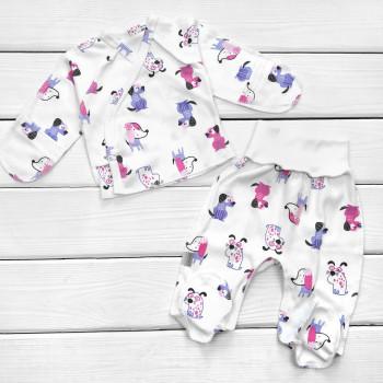 Комплект одежды в роддом: распашонка и ползунки для новорожденных