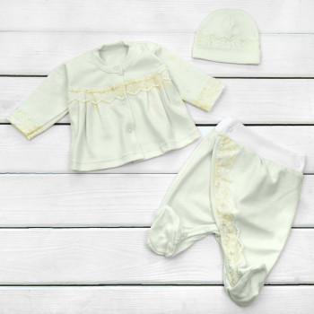 Комплект одежды на выписку из роддома новорожденной девочке