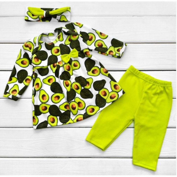 Комплект одежды Авокадо Интерлок для девочек
