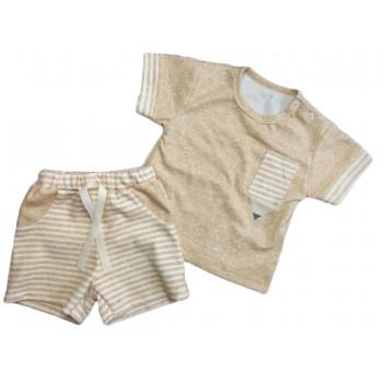 Летний детский кофейный комплект одежды 92 размера Карандаш