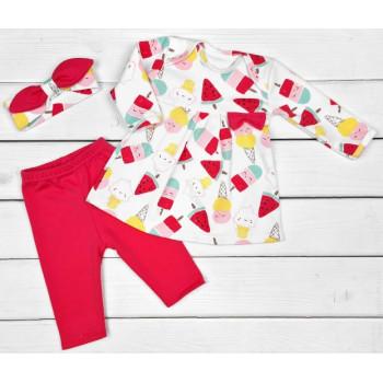 Комплект одежды 62 размера для девочек Мороженка из интерлока