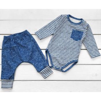 Комплект одежды Индиго Интерлок 68 74 размеры для мальчиков до года