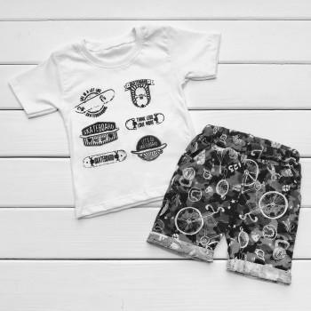 Летний набор: футболка и шорты 122 128 размеры Скейт