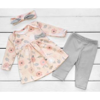 Комплект одежды Интерлок Розы 80 размеры для девочек