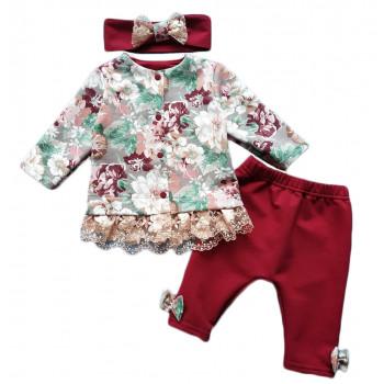 Комплект одежды - кофта повязка штанишки для девочек