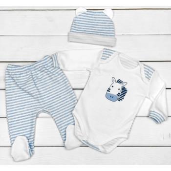 Комплект одежды Зебра Голубой 62  74 размеры для мальчиков